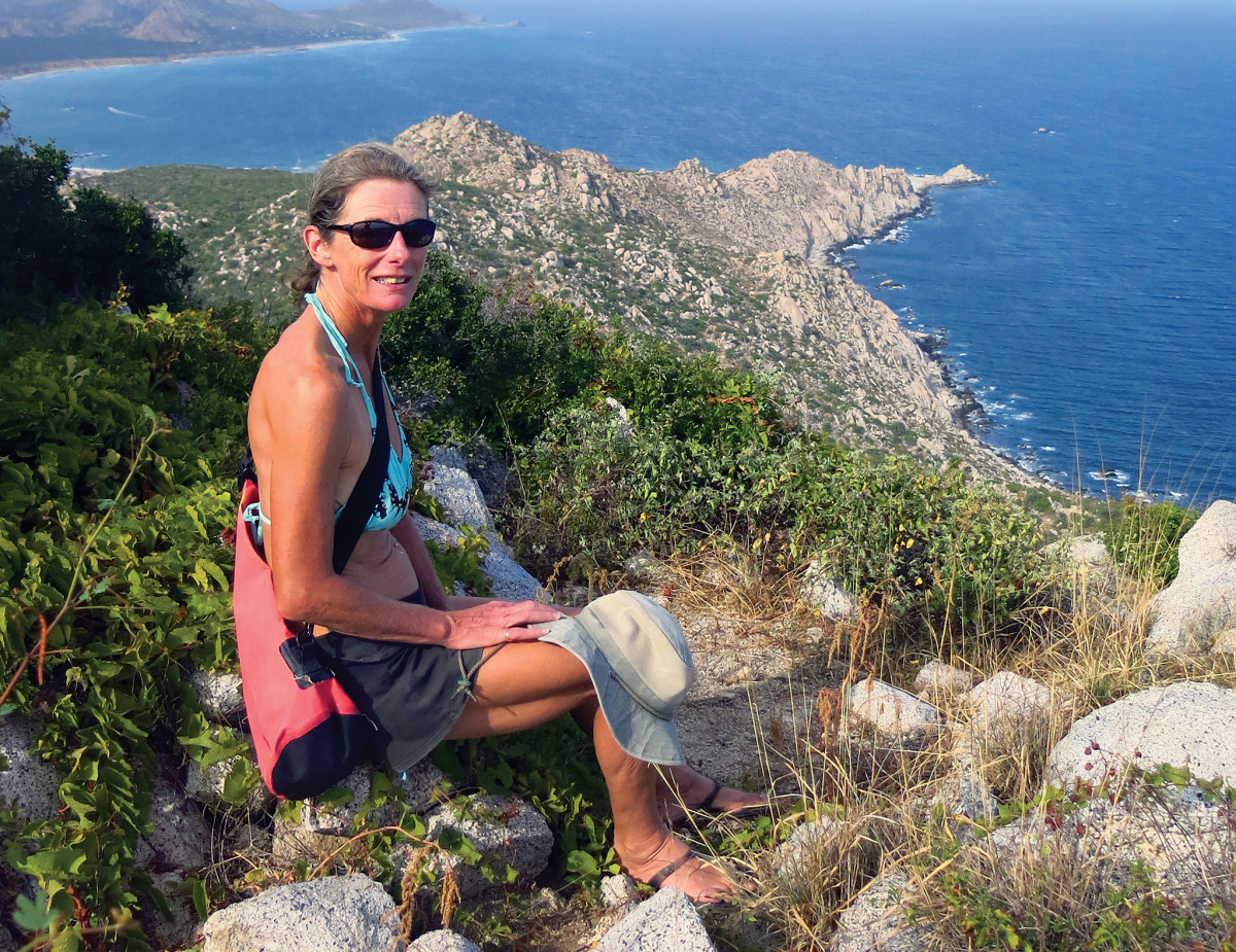 Worth the hike: the author takes in the spectacular view from the headland of Los Frailes
