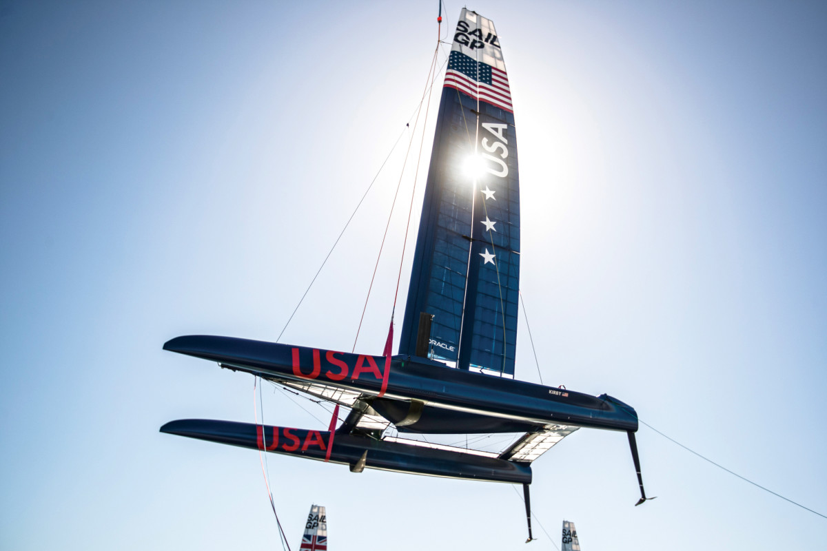 The F50 catamarans are based on the AC50 cats that contested last America's Cup in Bermuda