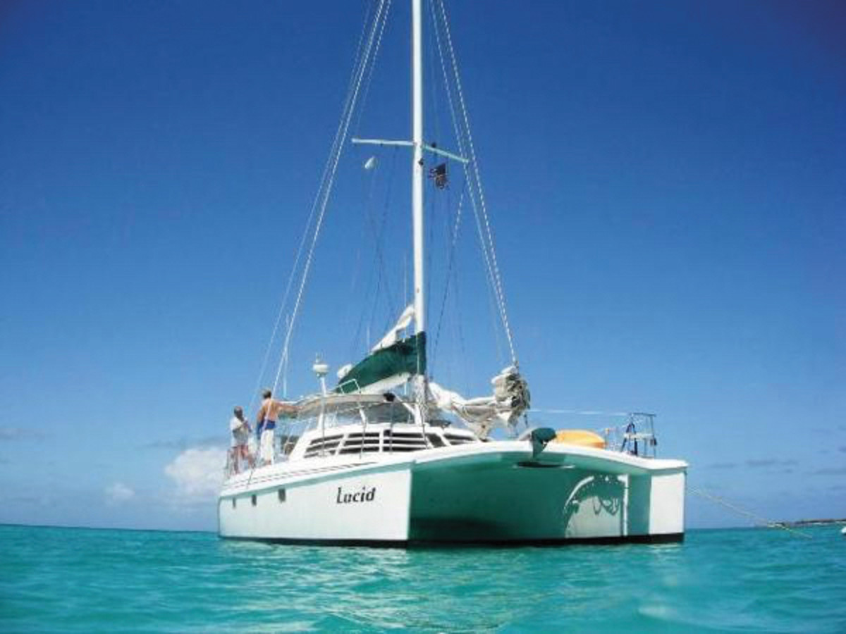 The Manta 42 is a classic American-built cruising catamaran