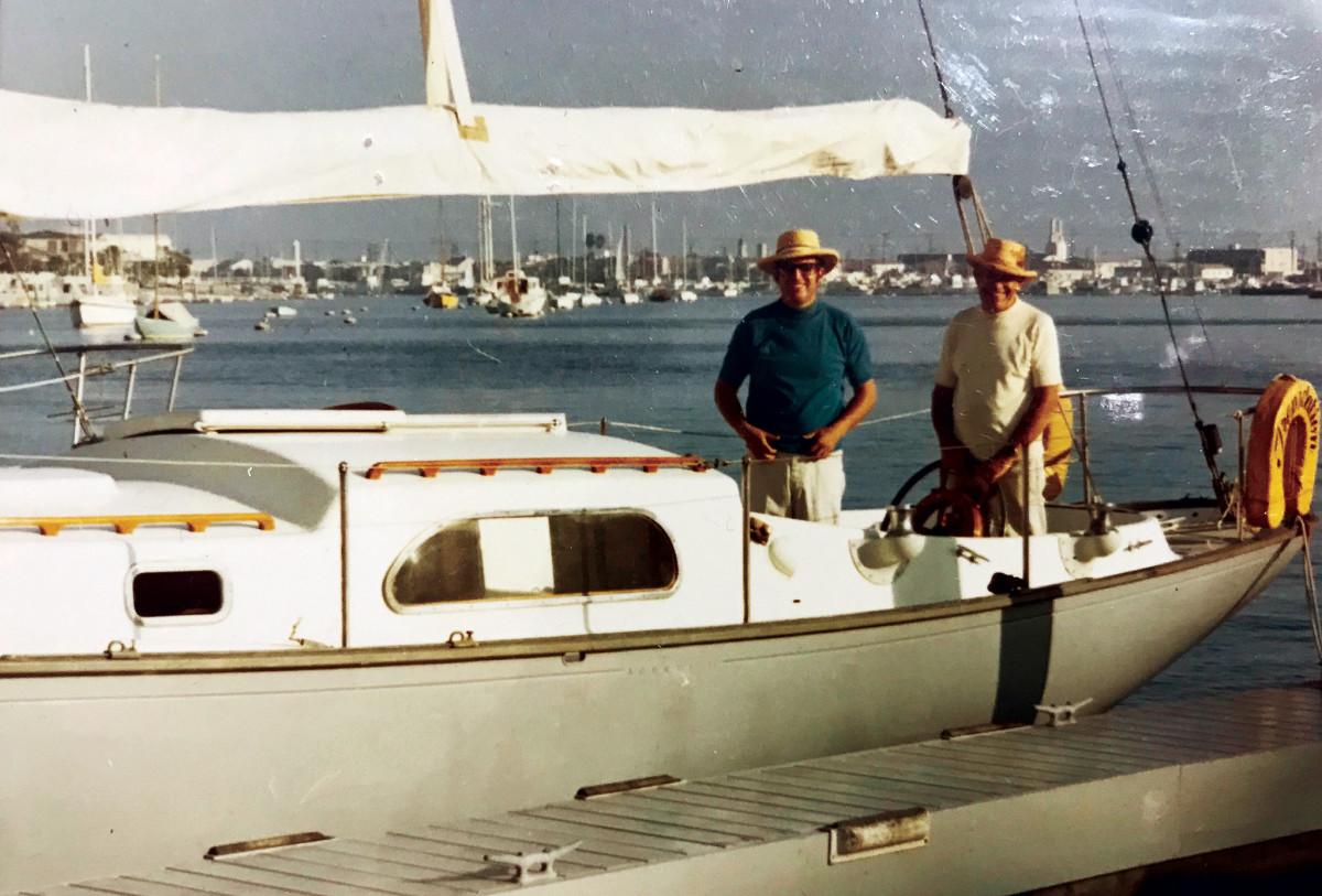 Bill Clark and John Sr. in the 1950s