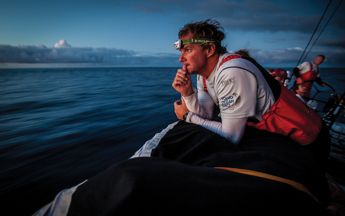 Ken Read contemplates the competition during the 2011-12 Volvo Ocean Race