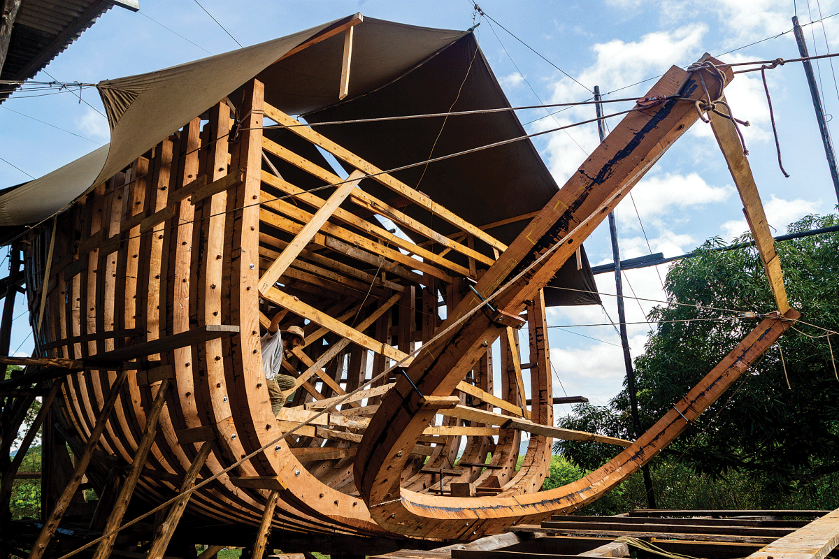 Ceiba is being built at a carbon-neutral yard in Costa Rica