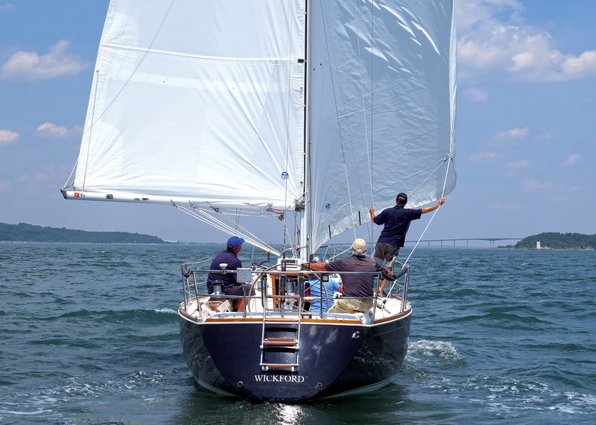 It's all about projecting more sail area dead downwind