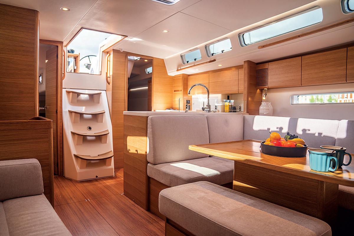 The interior blends a Euro aesthetic with a no-nonsense plan
