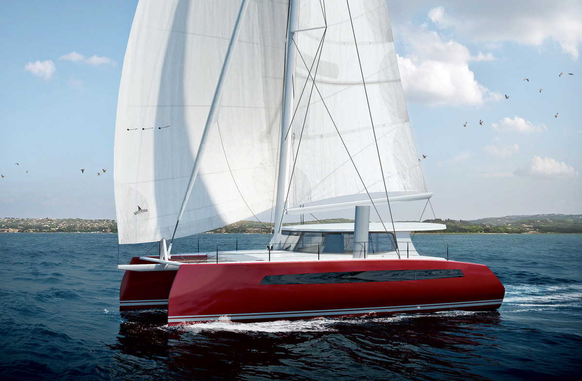 A rendering of the new Balance 442 under sail
