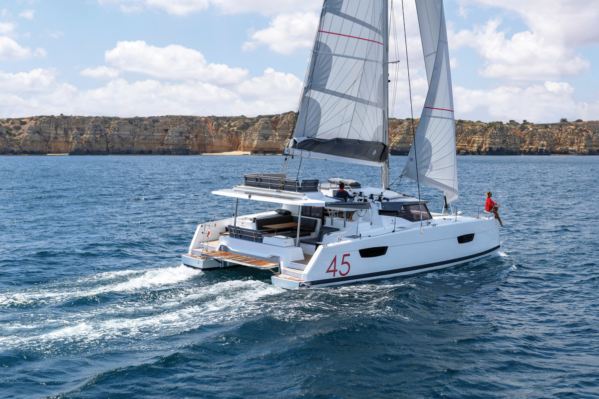 Comfort, style and performance were all part of the design brief for the Racoupeau-designed Fountaine-Pajot Elba 45 catamaran