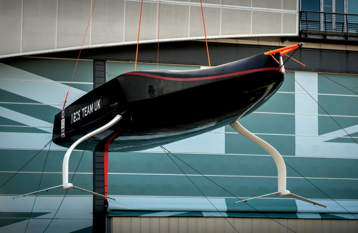INEOS Team UK's first AC75 featured a gently curved bottom
