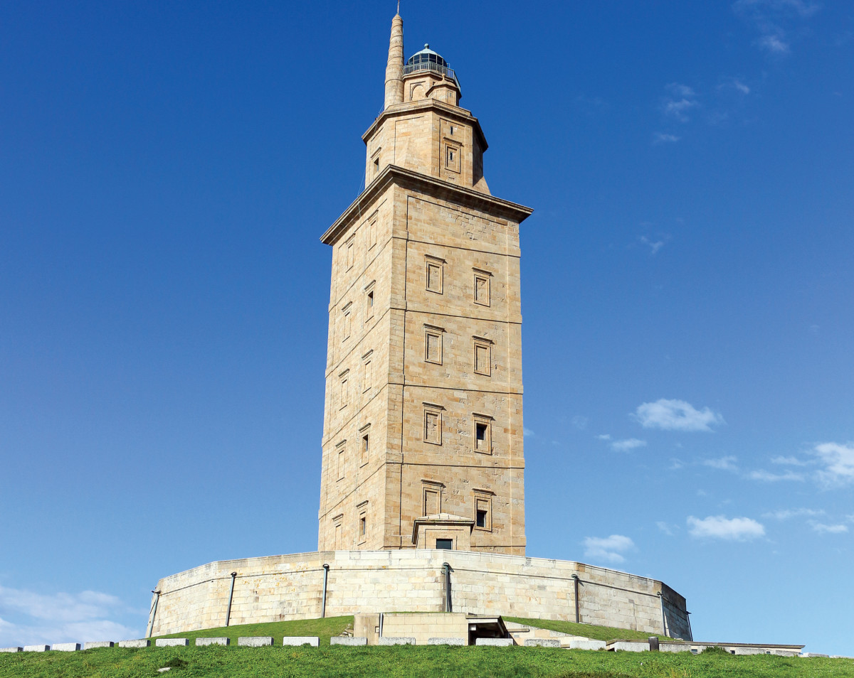 The Tower of Hercules lighthouse in A Coruña, Spain, dates back to the second century CE