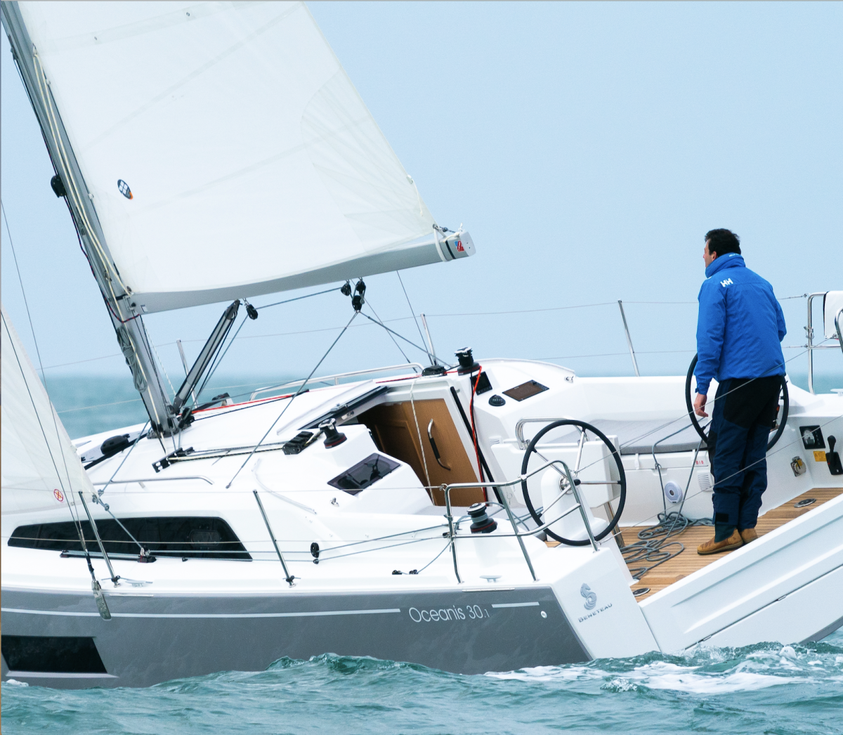 The vang on this Beneteau Oceanis 30.1 is vital to ensuring good mainsail shape