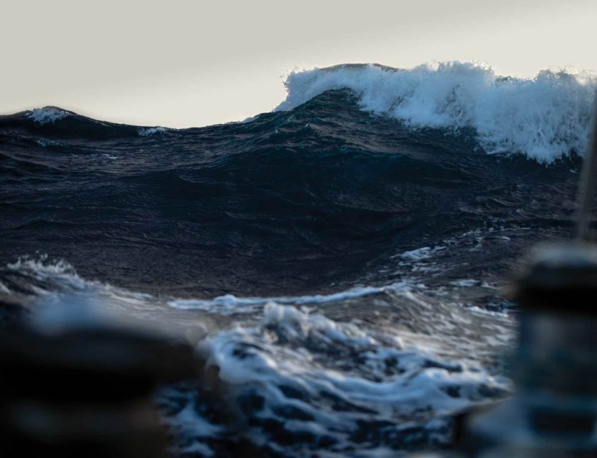 Big seas, though, especially if they're on the nose, are a whole other matter
