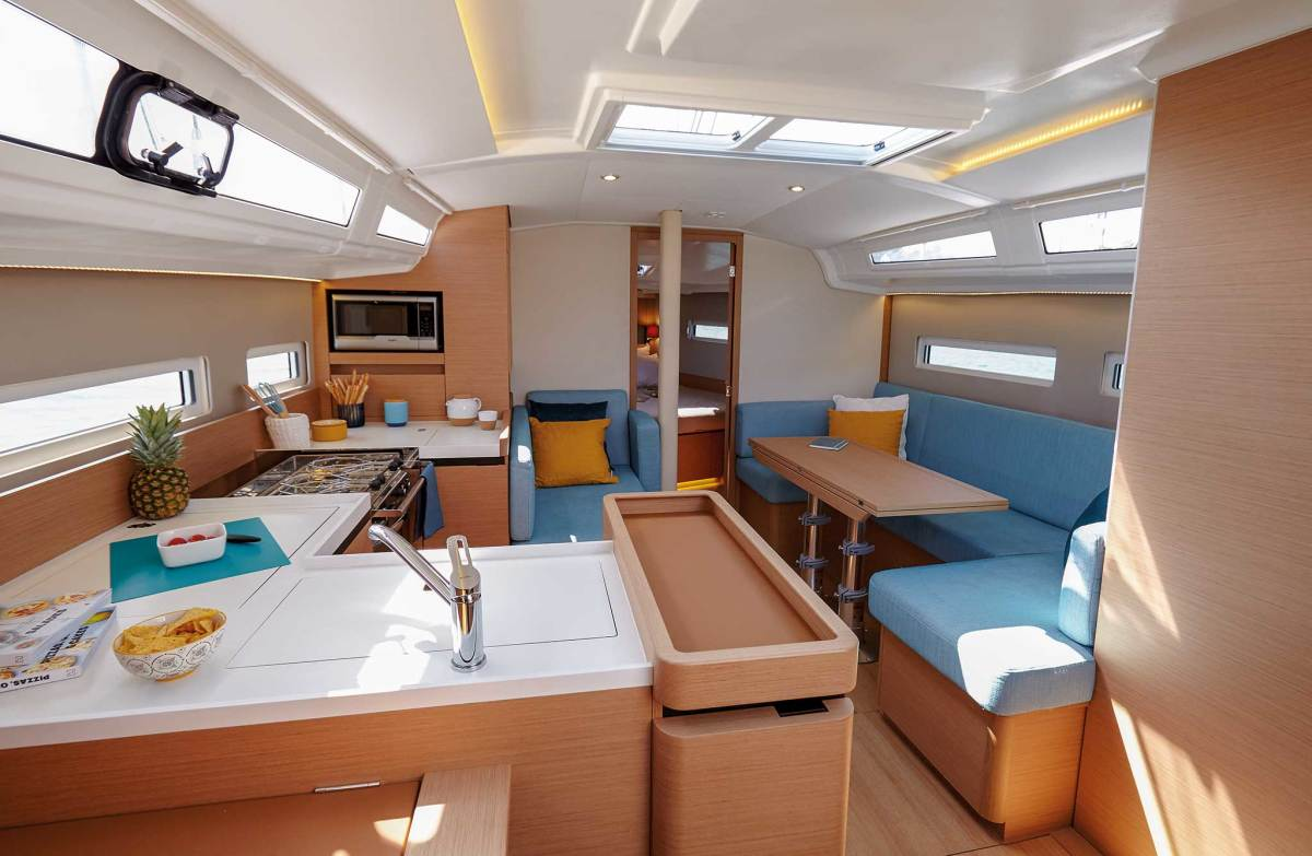 For a boat this size, a remarkable number of layouts is available