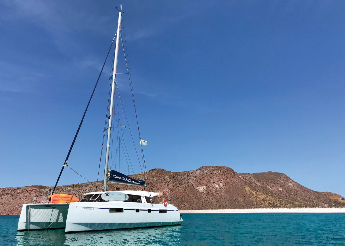 Summers can be hot down in Baja, but the anchorages are wide open
