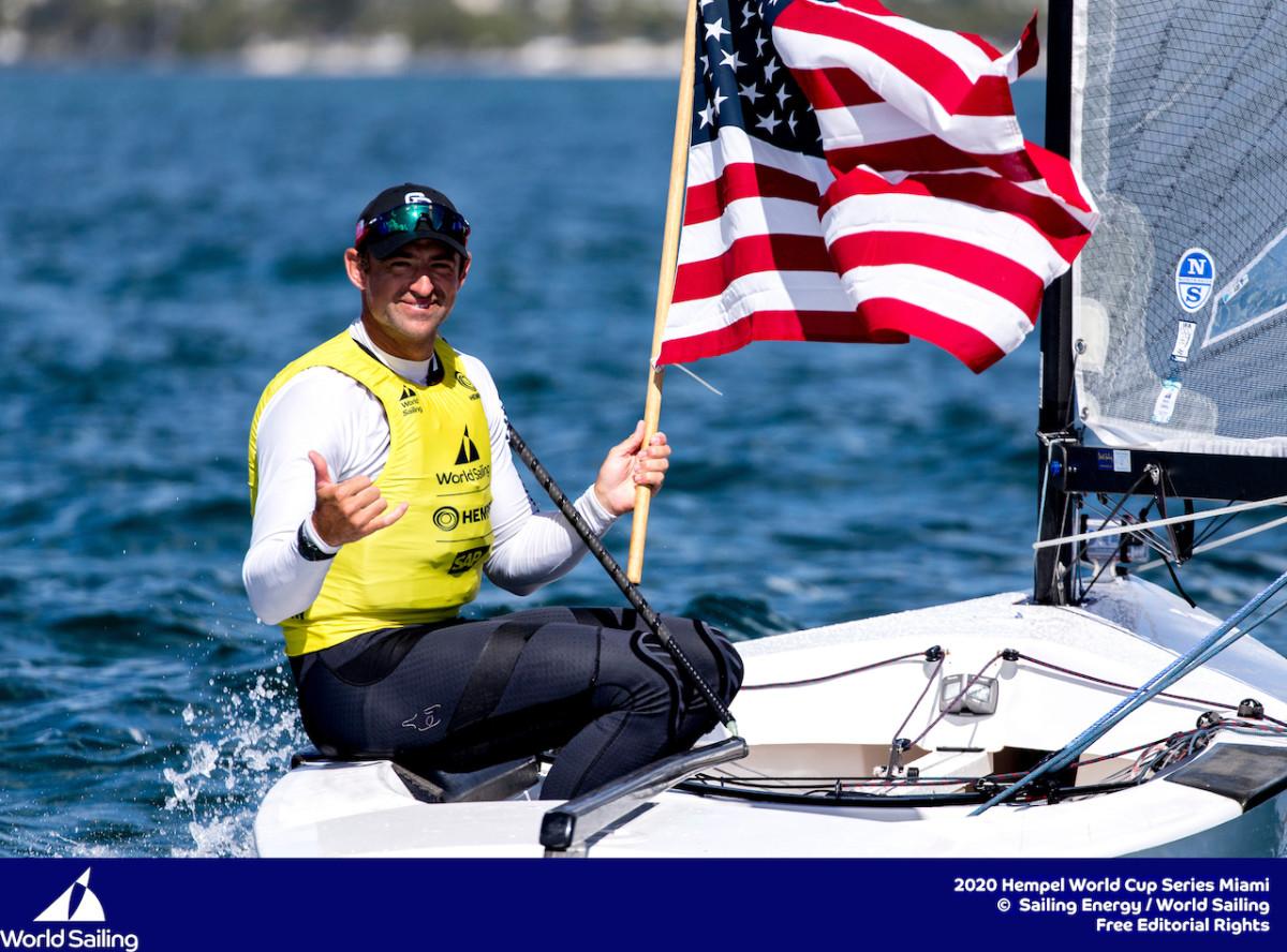 Finn sailor Caleb Paine said focus was the key to his regatta win