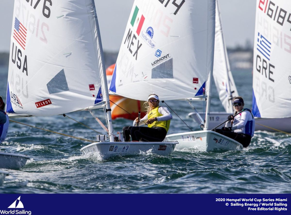 Laser Radial sailor Erika Reineke was in a back-and-forth battle with her main competitors to the very finish