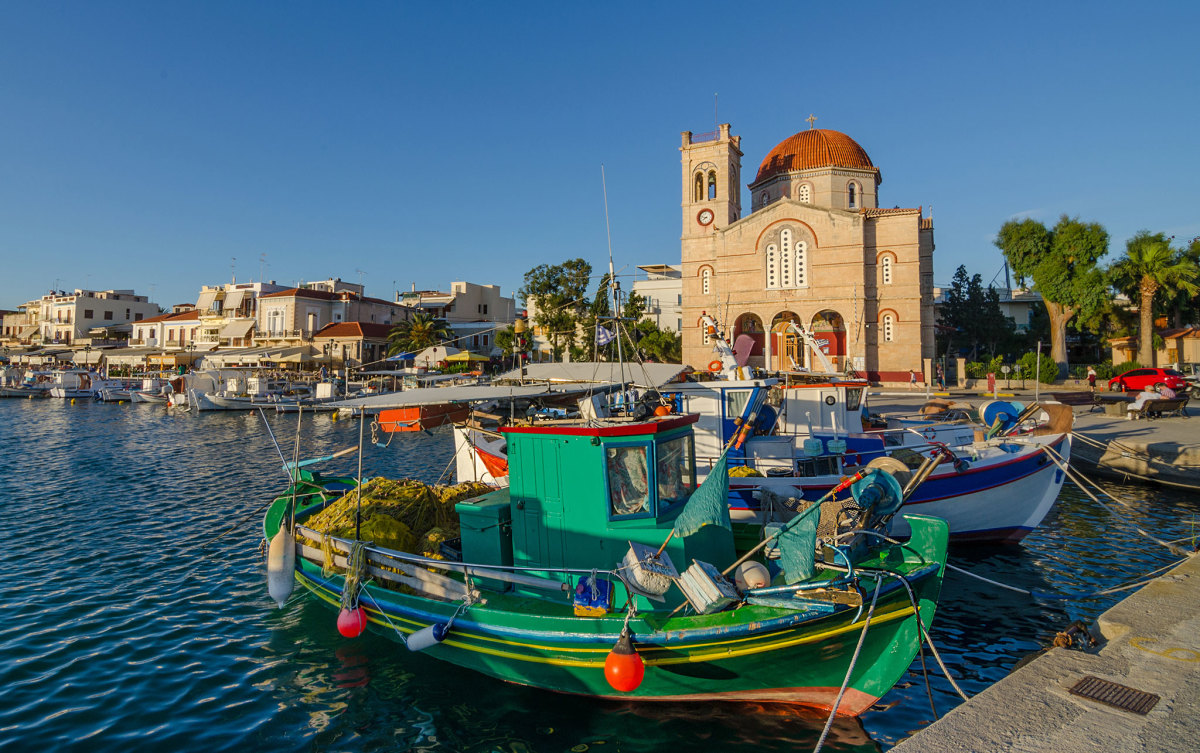 There's a timeless quality to fishing ports like Aegina town