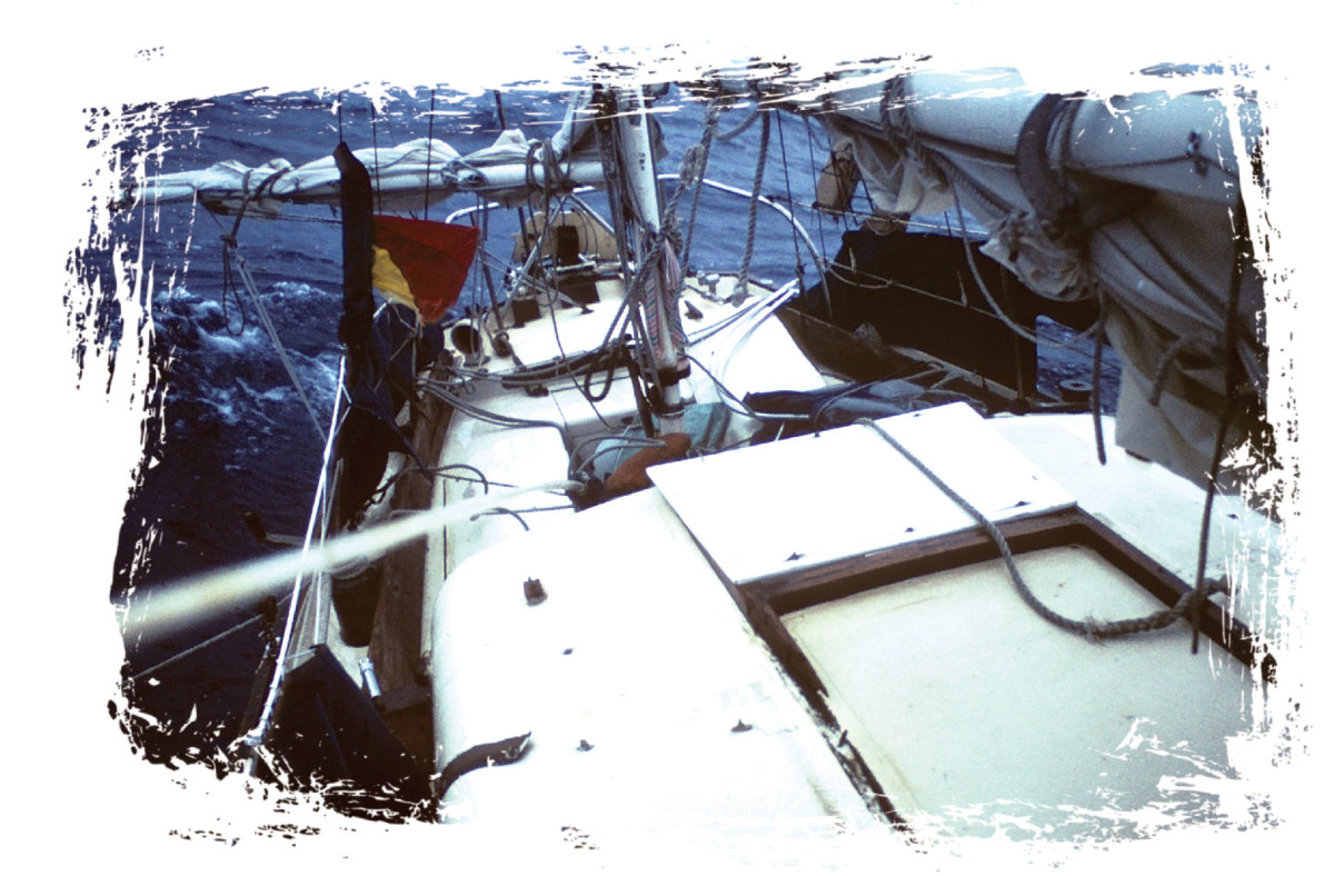 The damage topside after the knockdown