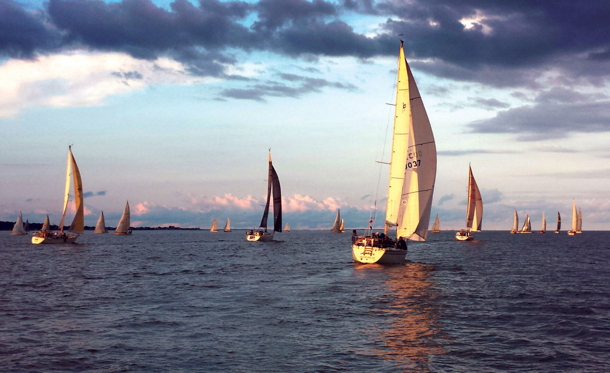 Another beautiful, and competitive, midweek summer evening out on the water
