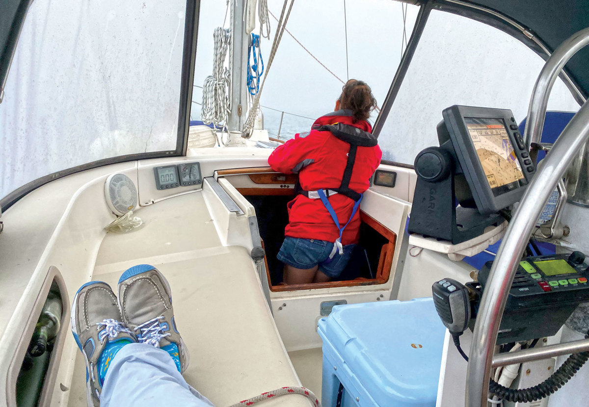 Navigating through the murk took all three crewmembers