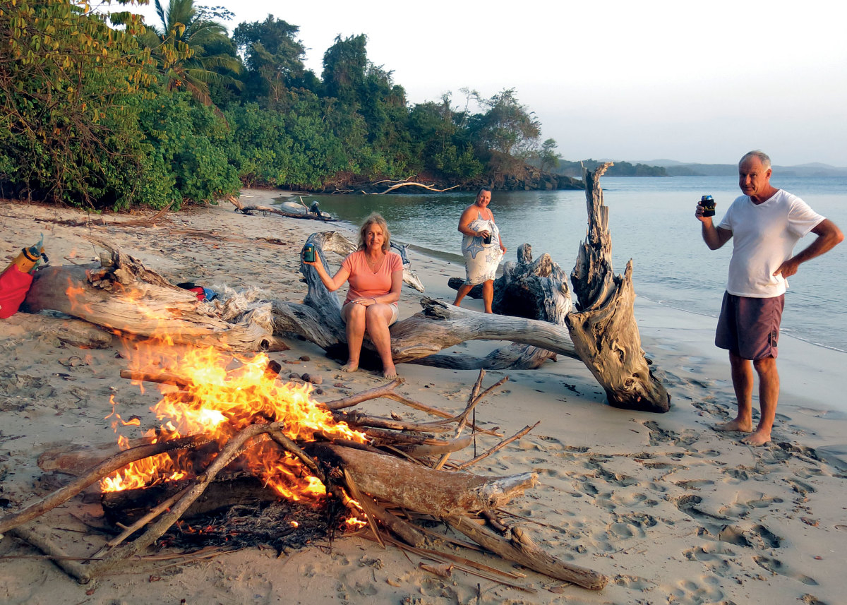 It's hard to beat a bonfire and sundowners on a secluded beach