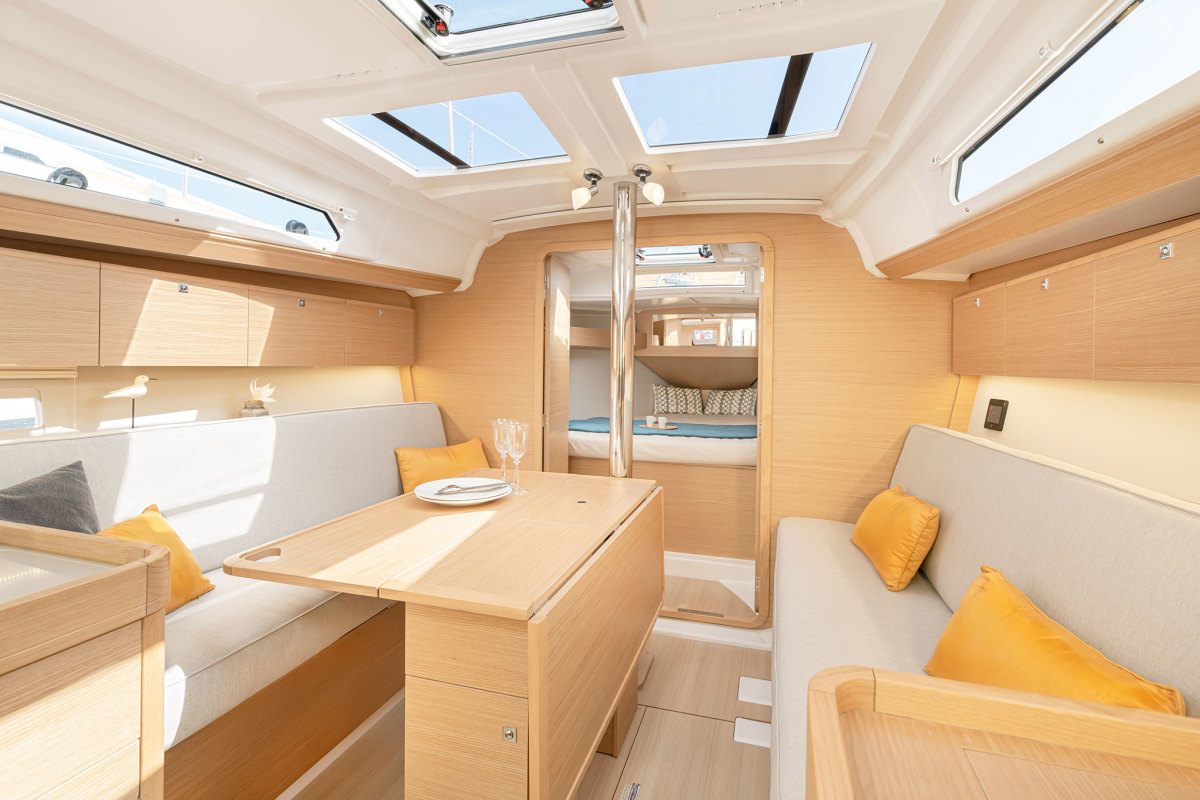 The saloon is elegant and comfortable with a nice amount of storage