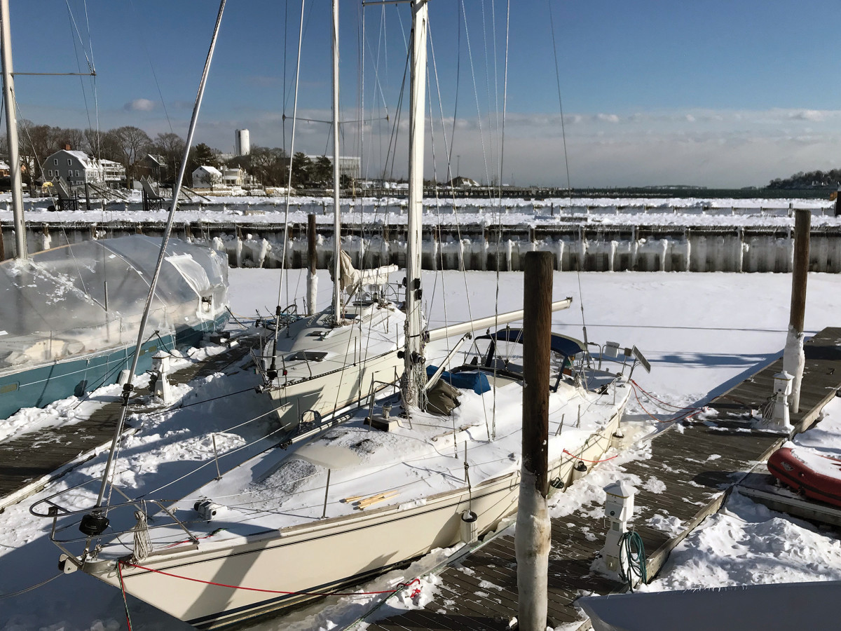 Living aboard during a New England winter is not for the faint of heart