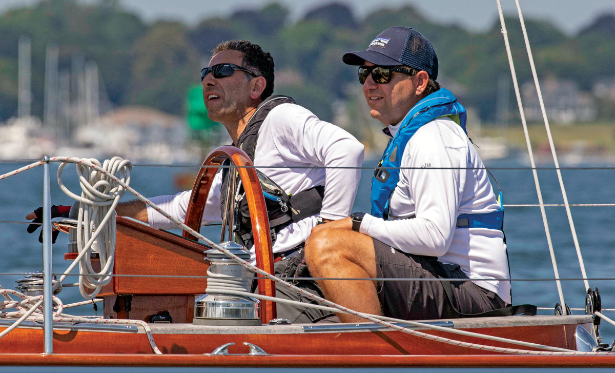 Alessandro Pagani (left) and Tomas Bergstrand team up aboard Pagani's Spirit 47, Luna