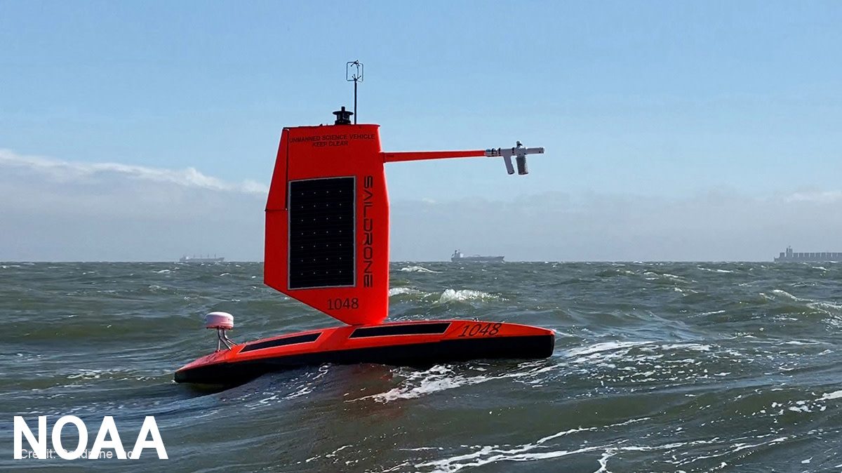 Saildrone autonomous vehicles allow weather forecasters to gather real-time data from hurricanes and other storms