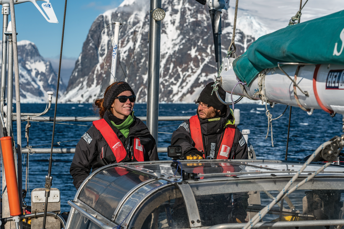 Adrien and Calypso's travels have included a number of voyages to Antarctica