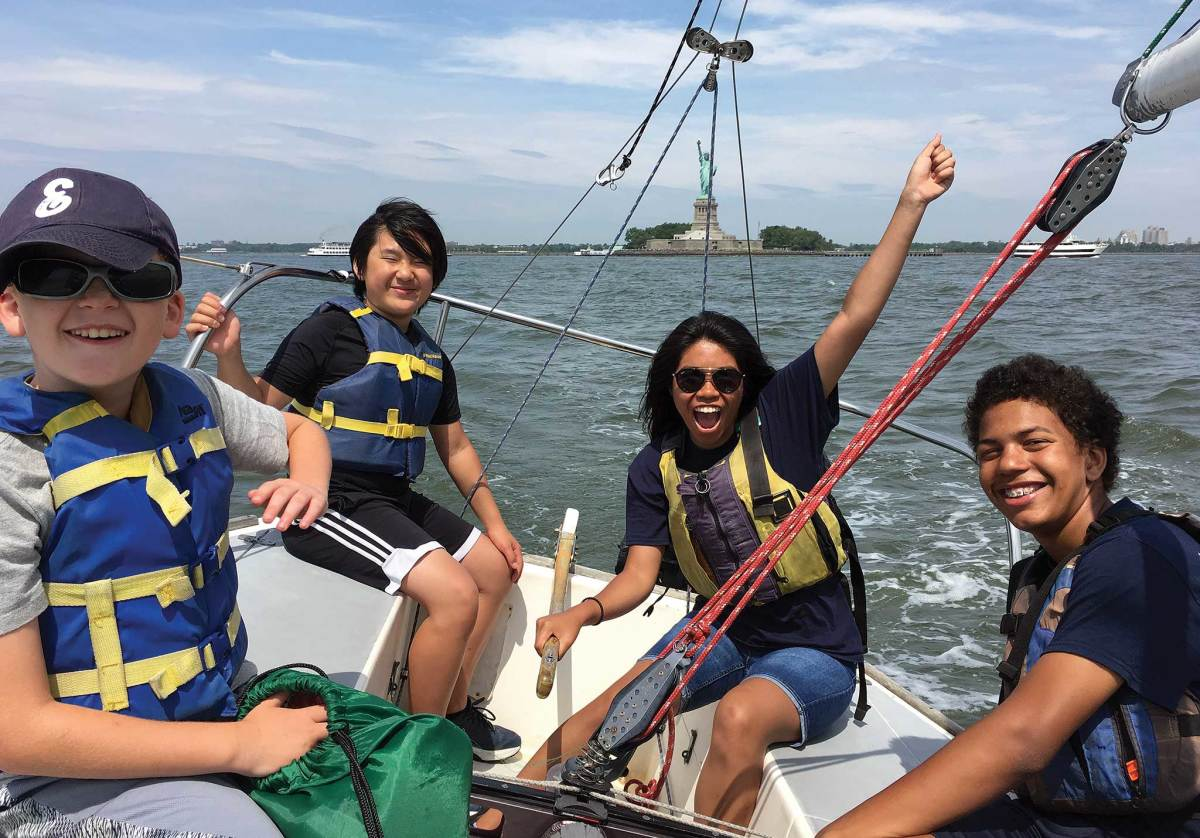 Hudson River Community Sailing provides hundreds of kids with water access every year