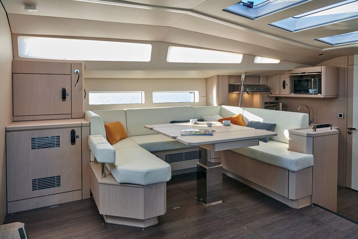Options abound belowdecks aboard the new Jeanneau Yachts 60