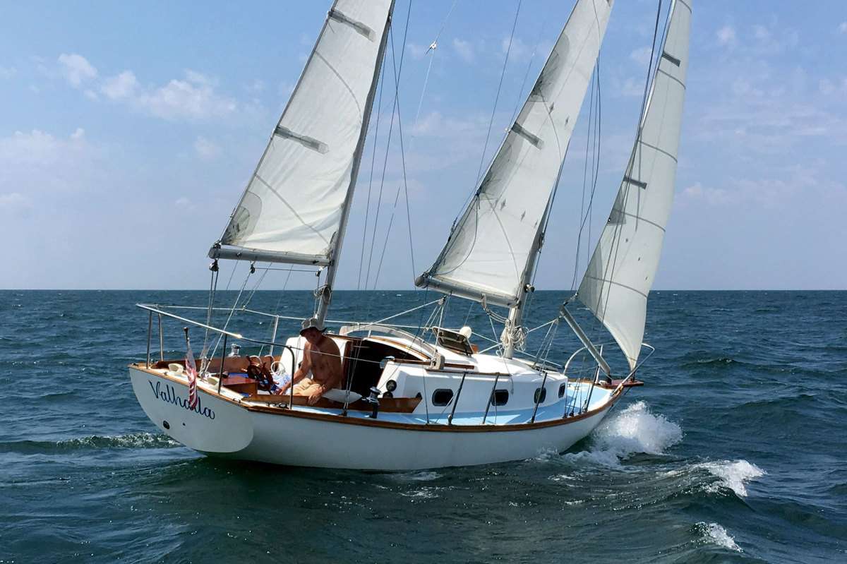 The author has spent decades exploring Lake Erie aboard his Carl Alberg-designed ketch