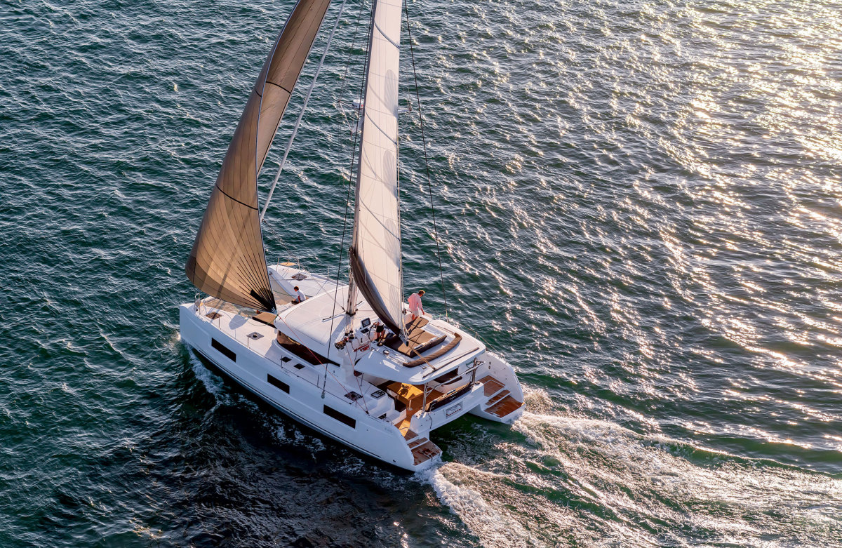 It's no accident catamarans, like this Lagoon 46, have become so popular with charterers