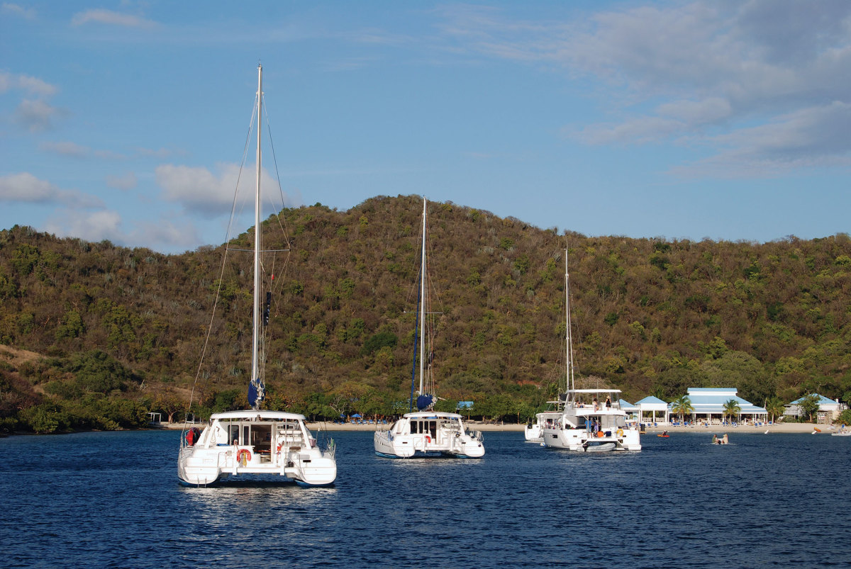 In pretty much any anchorage in the Caribbean, cruising cats abound