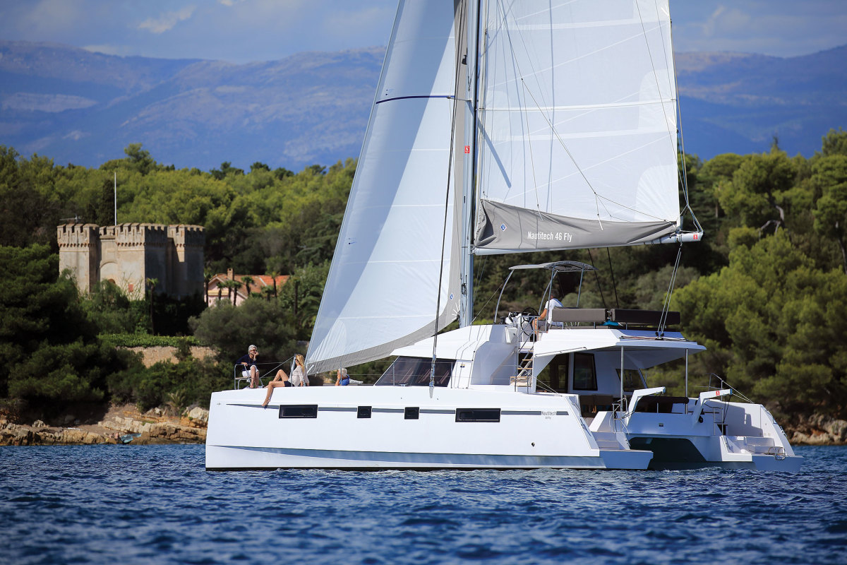 The crew of a Nautitech 46 Fly explores its own little corner of the Med