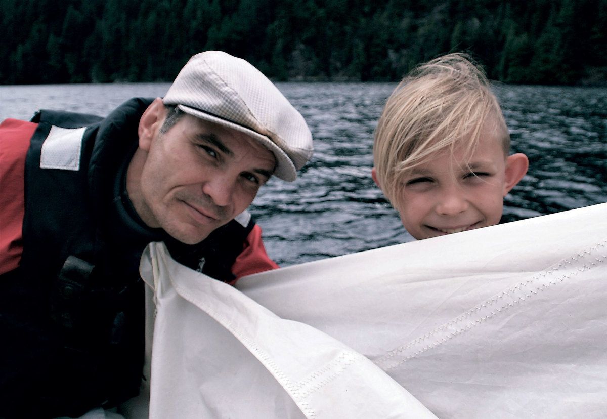 The author and his trusty first mate, Emil, bound for adventure