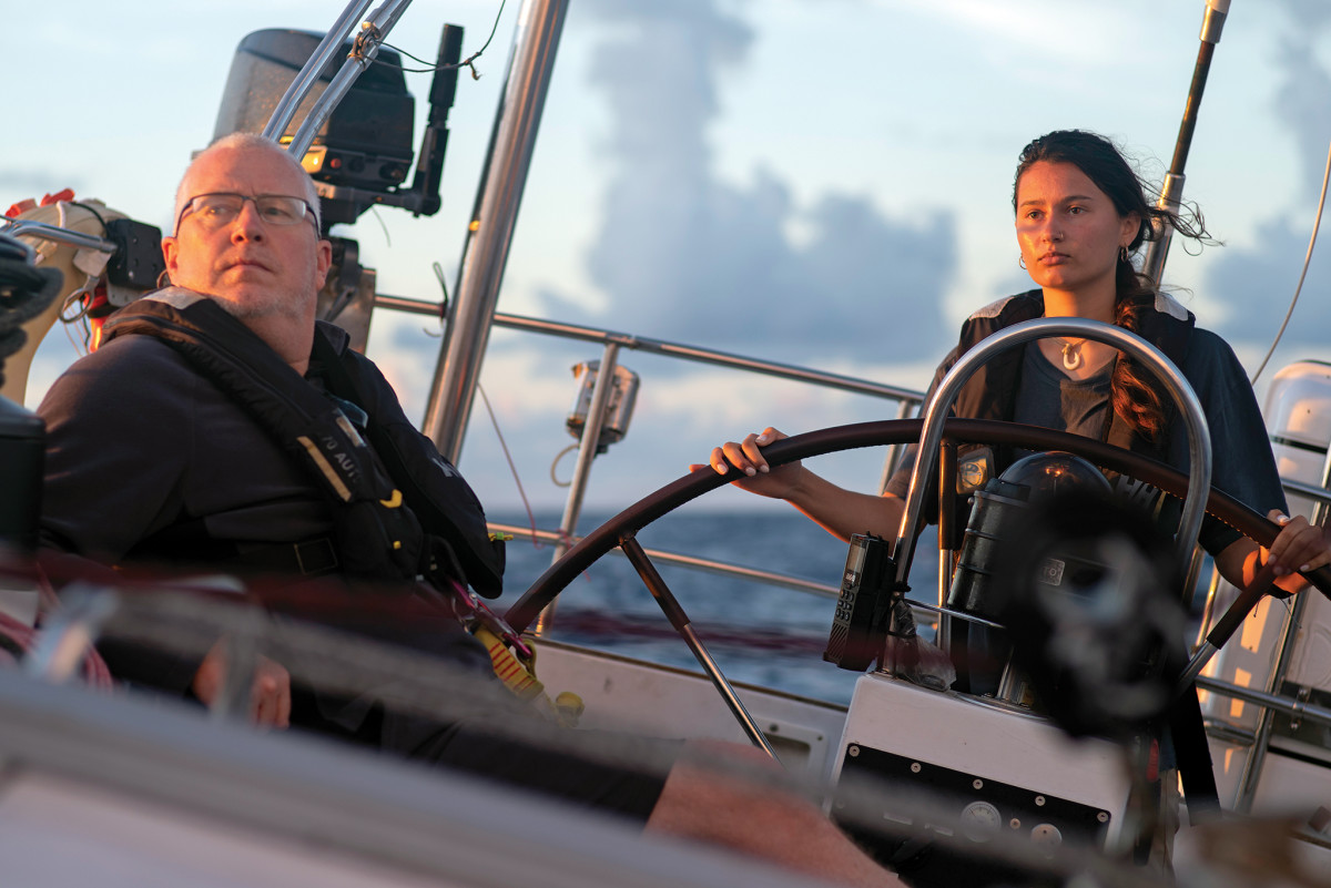 Offshore newbie Mira and her father, Jay, set sail for adventure