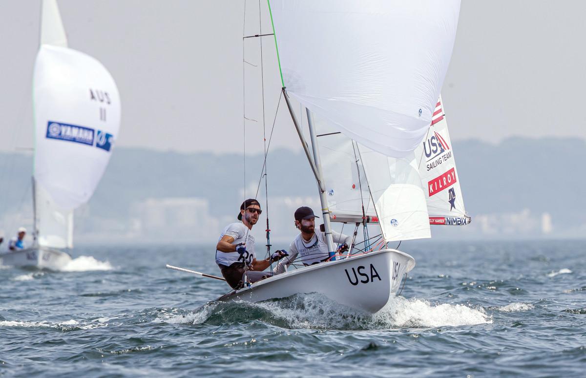 U.S. 470 sailors David Hughes (left) and Stu McNay are both veterans of past Olympics