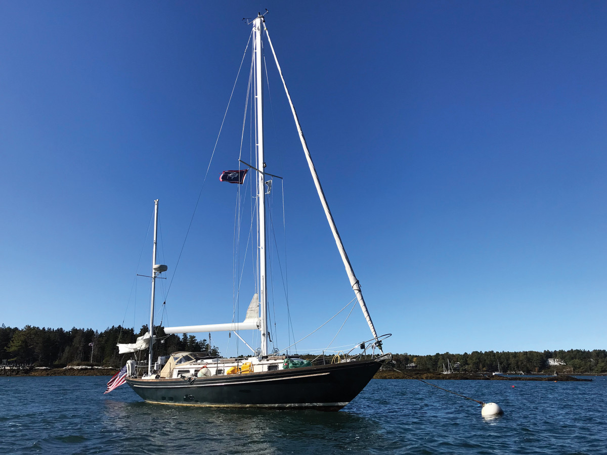 Daydream safely at her mooring