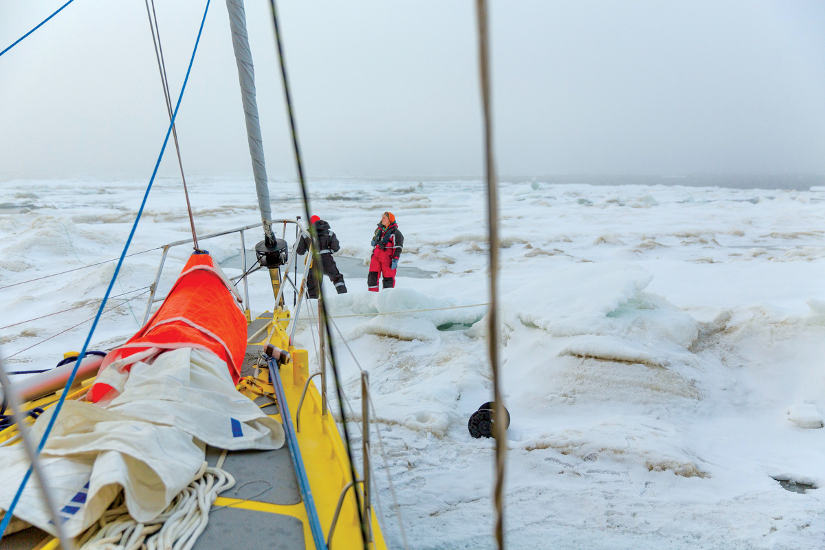 When venturing into higher latitudes, there's nothing like a steel hull!