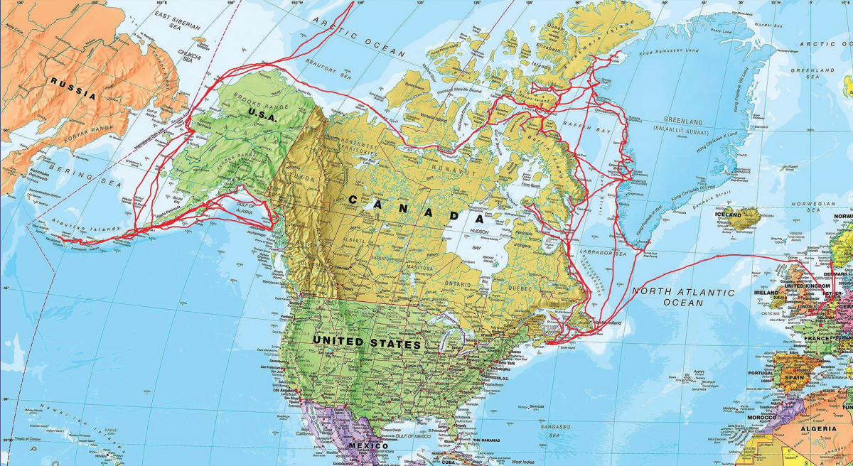 A track of Bagheera and the author's extensive travels in the far north