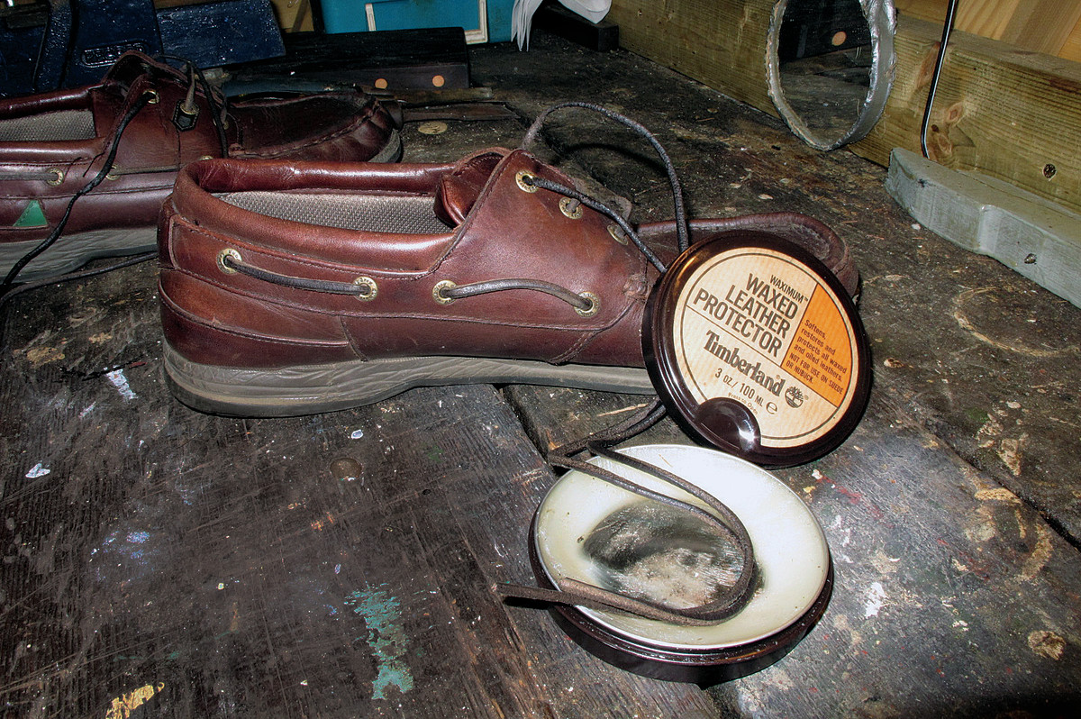 Leather conditioner is also good for leather laces