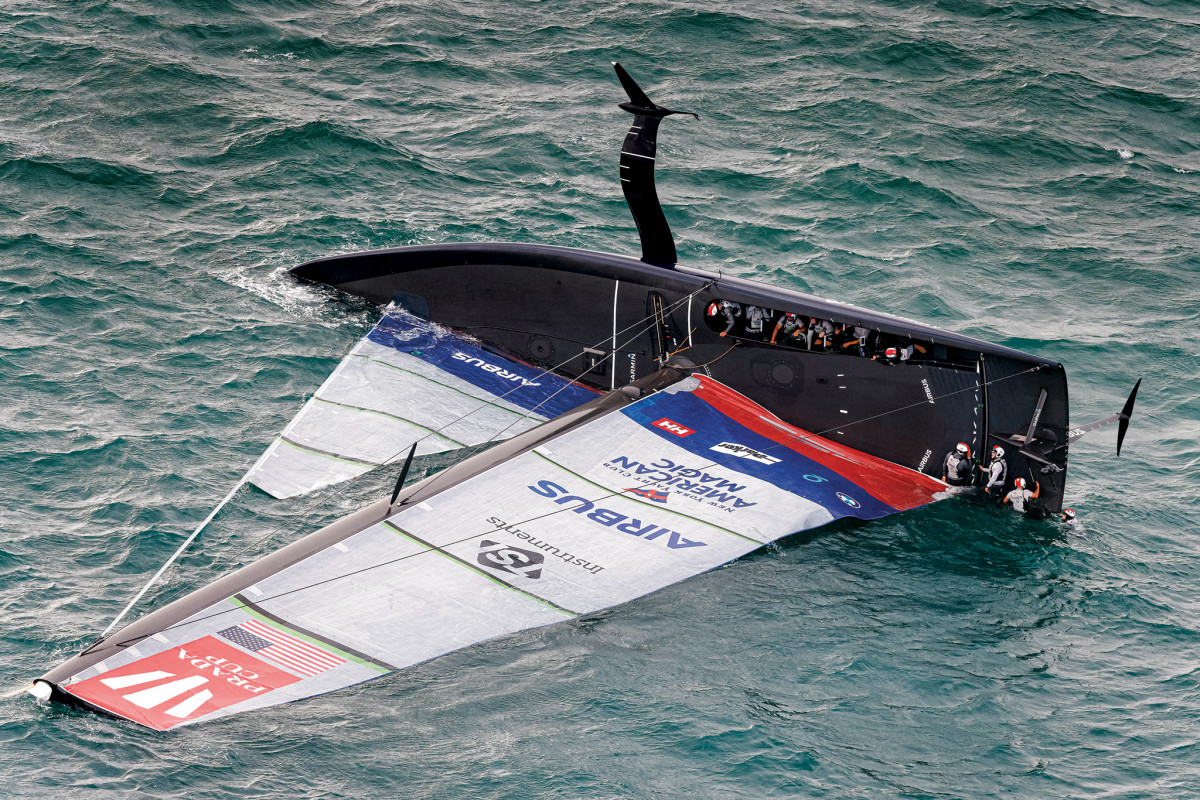 If an AC75 capsizes in a race and nobody cares, is it still the America's Cup?