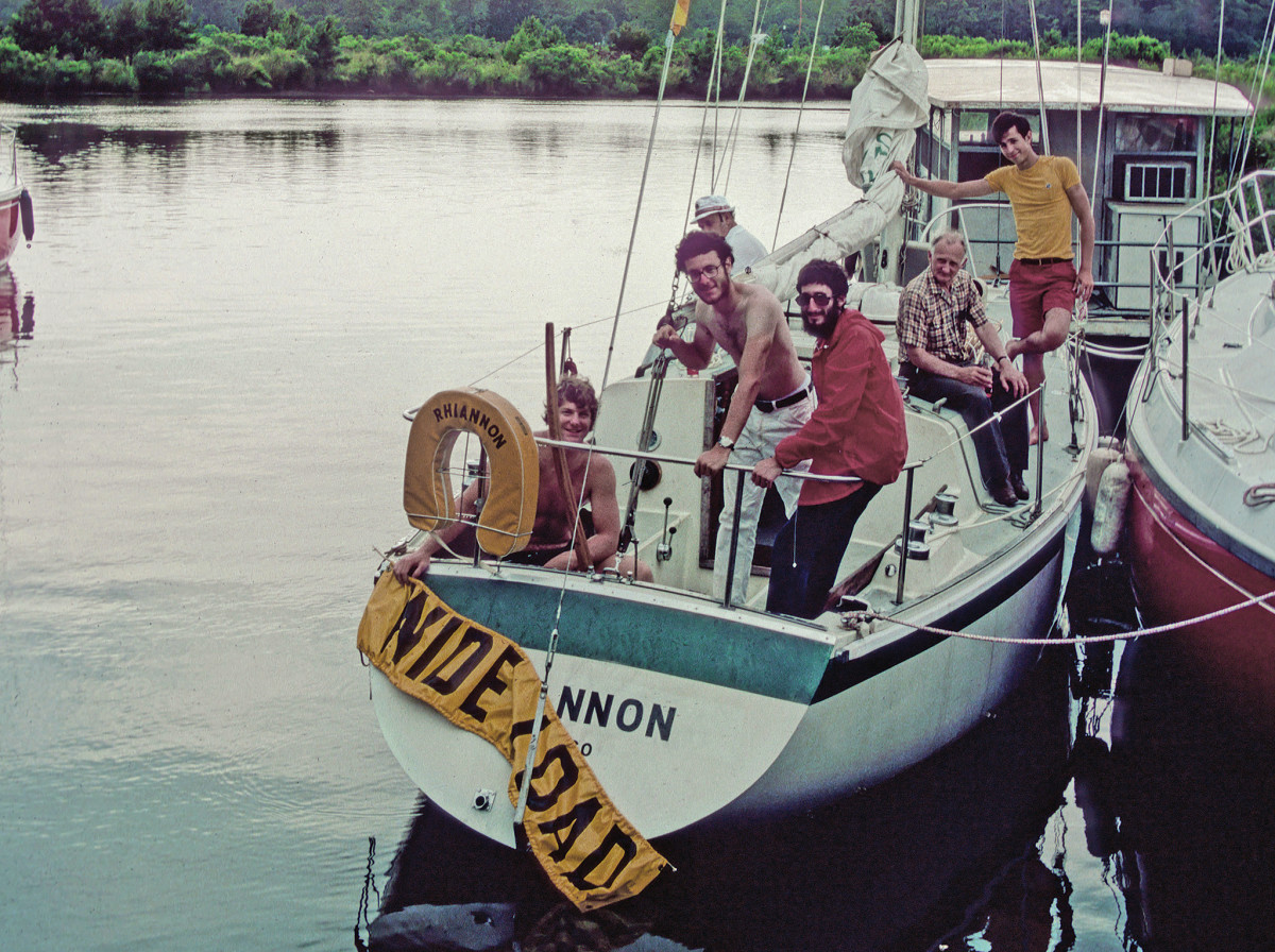 From left: Clark, the author and Louis re-launch their Cal 2-30 in Louisiana at the beginning of the voyage