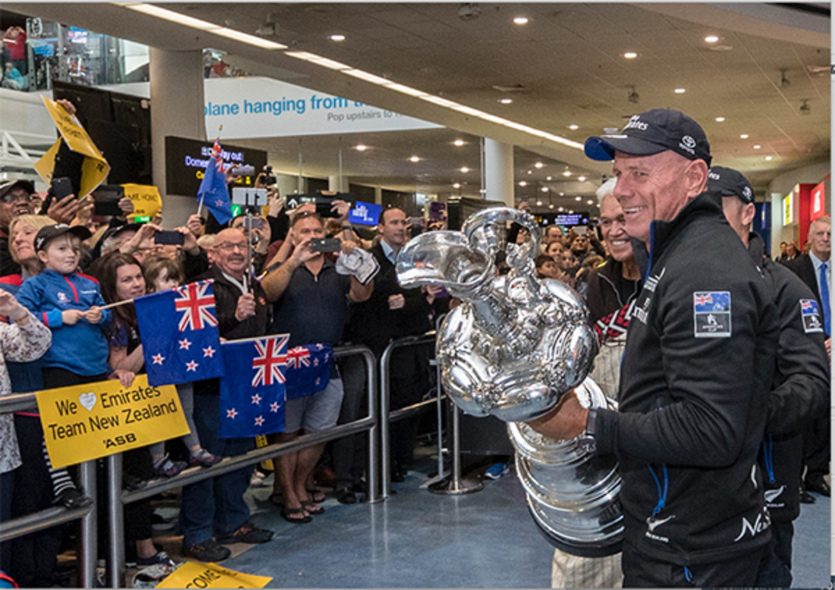 Dalton to fans: Thanks guys! Have fun watching the next America's Cup on the tele!